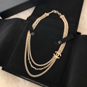 🖤 CHANEL Authentic Multi-chain Gold Necklace